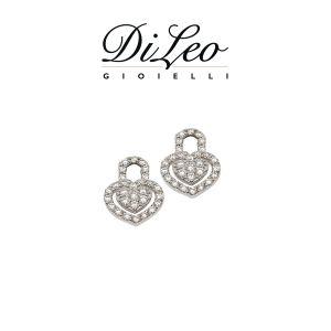 DI LEO Orecchini con diamanti ct compl. 0,56 oro bianco 18 KT Daydream65/04