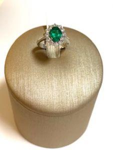 PALMA GIOIELLI Anello Smeraldo Naturale e Diamanti M248