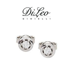 DI LEO Orecchini con diamanti ct compl. 0,10 oro bianco 18 KT Daydream14/01