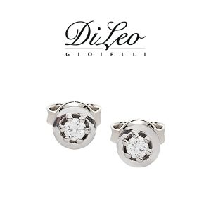 DI LEO Orecchini con diamanti ct compl. 0,20 oro bianco 18 KT Daydream14/03