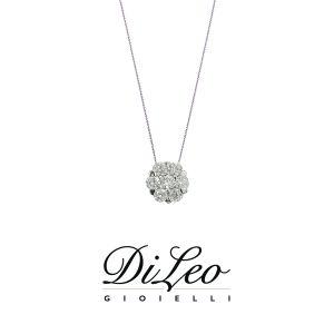 DI LEO Girocollo con diamanti ct compl. 0,14 oro bianco 18 KT Daydream58/04