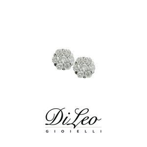 DI LEO Orecchini con diamanti ct compl. 0,34 oro bianco 18 KT Daydream59/04