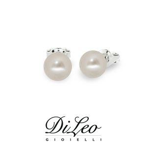 DI LEO Orecchini con perla mm 5,5-6 oro bianco 18 KT Daydream91/02