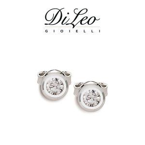 DI LEO Orecchini Punto luce con diamanti ct compl. 0,06 oro bianco 18 KT Daydream07/01