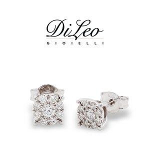 DI LEO Orecchini tondo con diamanti ct compl. 0,14 oro bianco 18 KT Daydream20/03