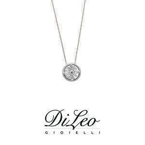 DI LEO Girocollo illusione con diamanti ct compl. 0,02 oro bianco 18 KT Daydream26/01