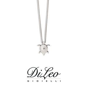 DI LEO Girocollo Tartaruga con diamanti ct compl. 0,01 oro bianco 18 KT Daydream37/03
