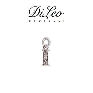 DI LEO Girocollo lettera I con diamanti ct compl. 0,02 oro bianco 18 KT Daydream39/09