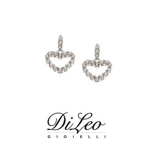 DI LEO Orecchini con diamanti ct compl. 0,10 oro bianco 18 KT Daydream62/04
