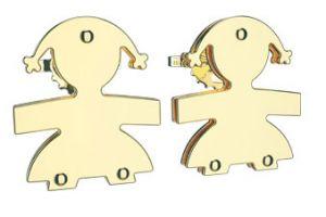 Orecchini al lobo Le Bebé femminuccia oro giallo Ref. LBB 052