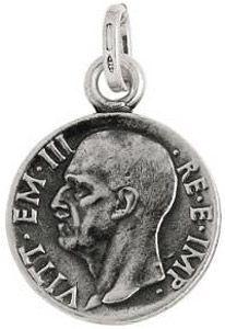 Charm GIOVANNI RASPINI Moneta Vittorio Emanuele