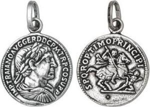 Charm GIOVANNI RASPINI Moneta Imperatore grande