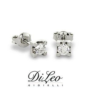 DI LEO Orecchini con diamanti ct compl. 0,12 oro bianco 18 KT Daydream10/04